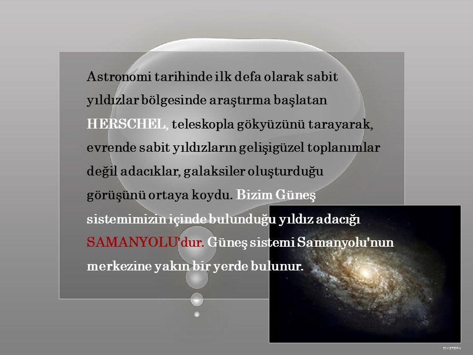 Astronomi tarihinde ilk defa olarak sabit
