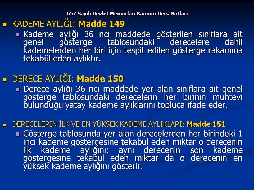 657 Sayılı Devlet Memurları Kanunu Ders Notları