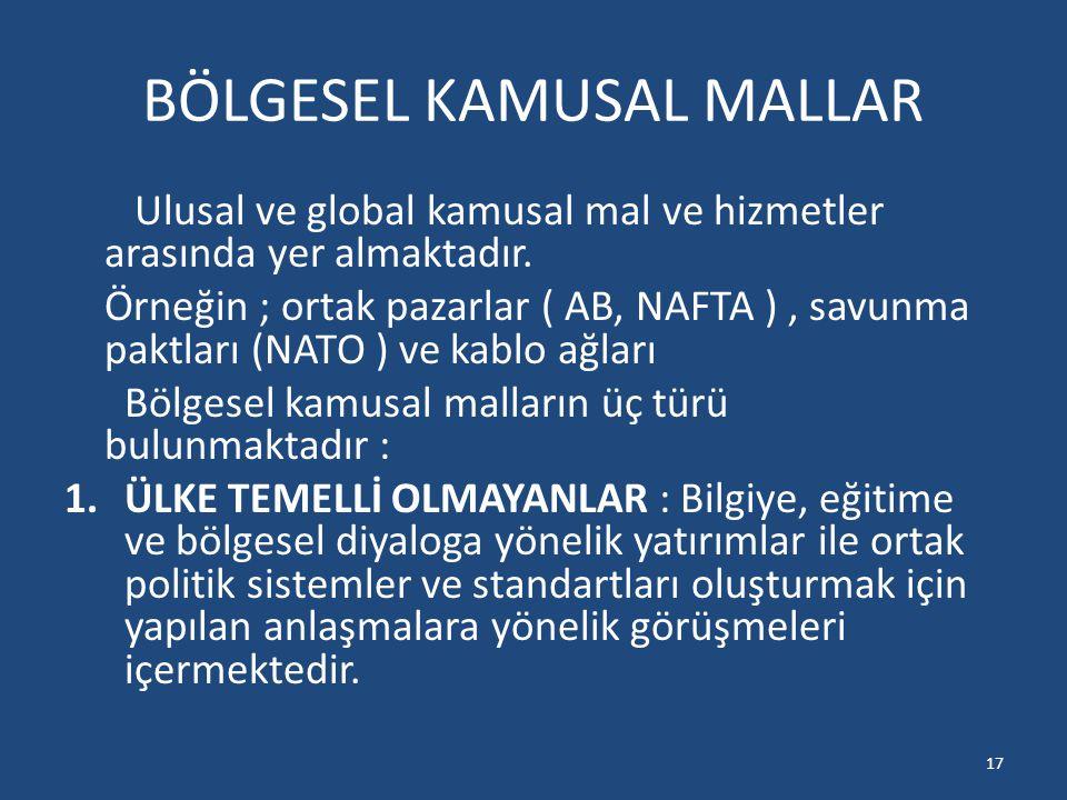 BÖLGESEL KAMUSAL MALLAR