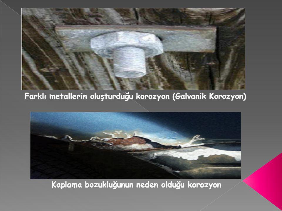 Farklı metallerin oluşturduğu korozyon (Galvanik Korozyon)
