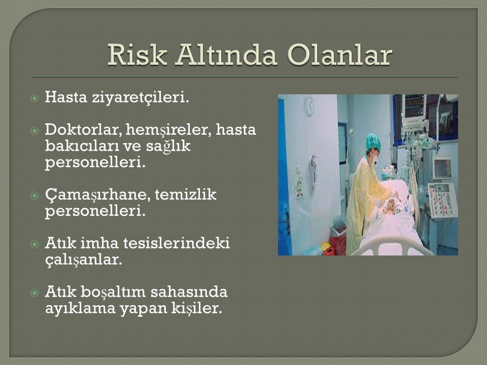 Risk Altında Olanlar Hasta ziyaretçileri.