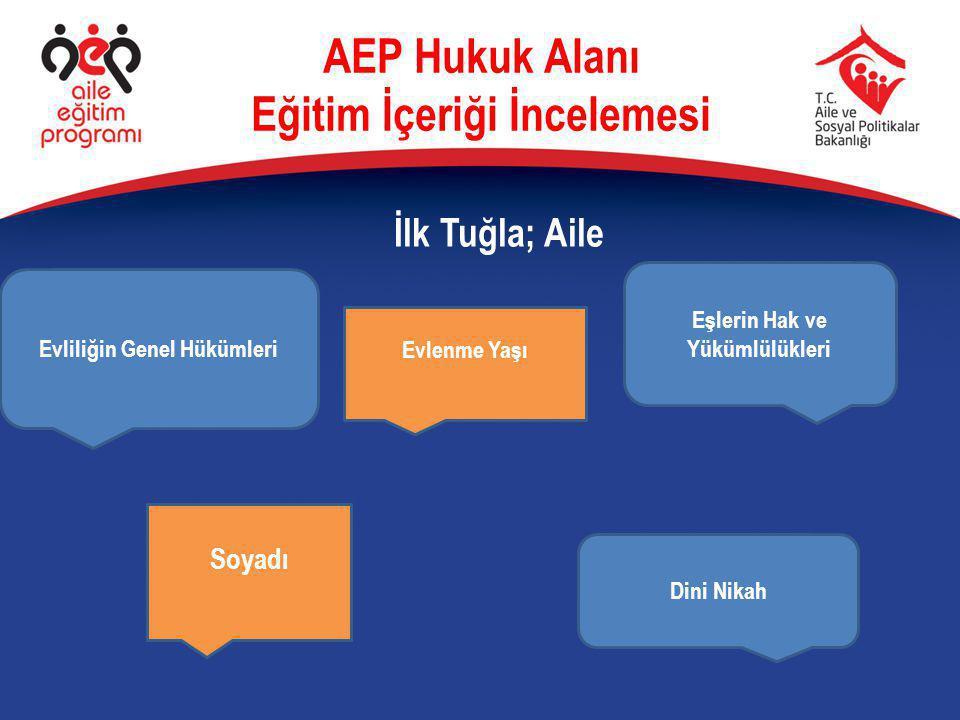 AEP Hukuk Alanı Eğitim İçeriği İncelemesi