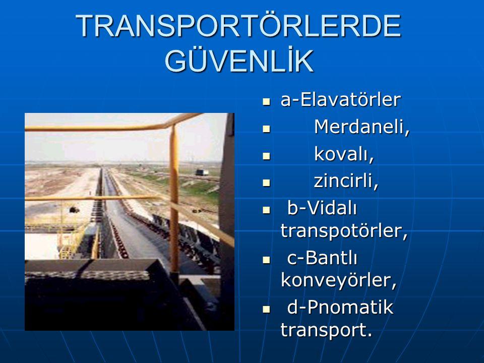 TRANSPORTÖRLERDE GÜVENLİK