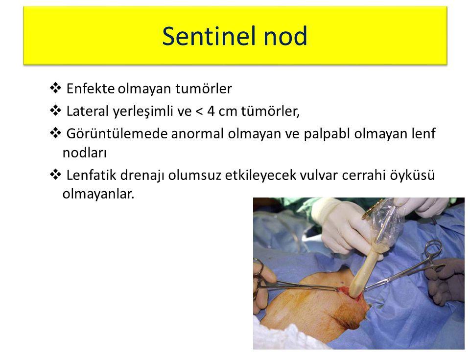 Sentinel nod Enfekte olmayan tumörler