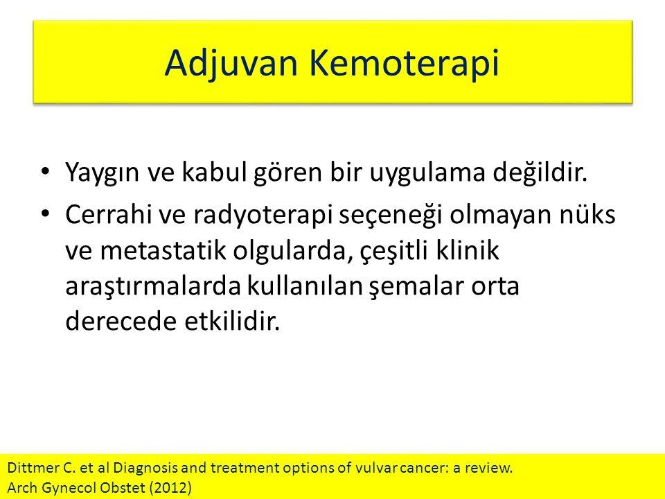 Adjuvan Kemoterapi Yaygın ve kabul gören bir uygulama değildir.