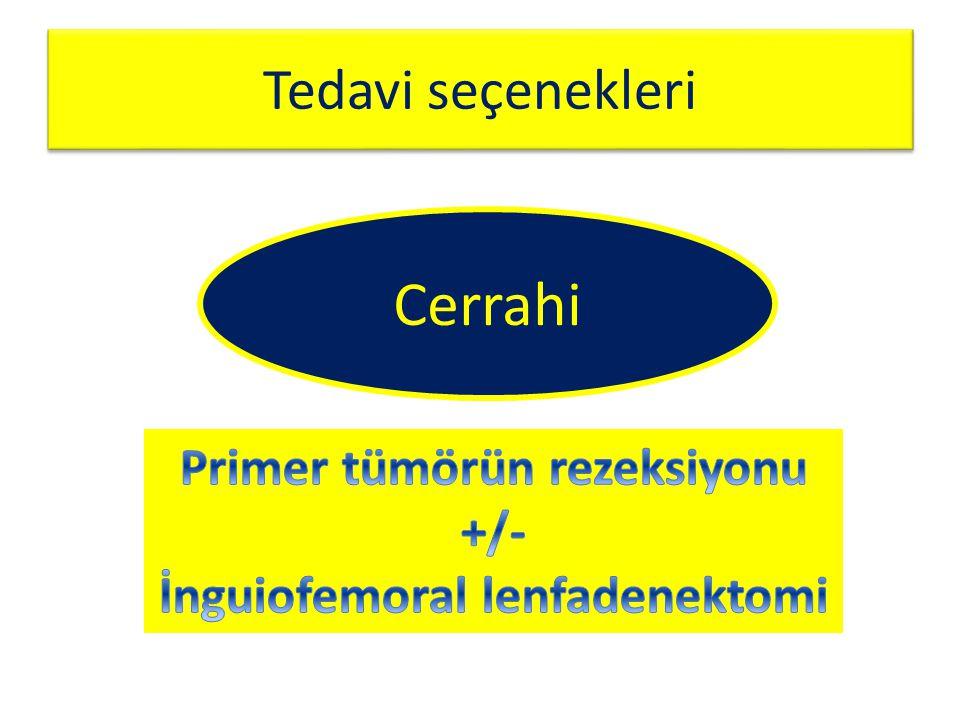 Primer tümörün rezeksiyonu İnguiofemoral lenfadenektomi