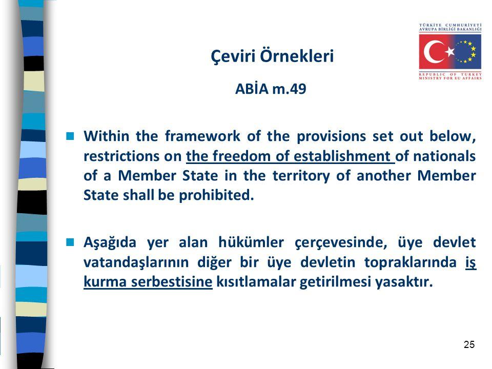 Çeviri Örnekleri ABİA m.49
