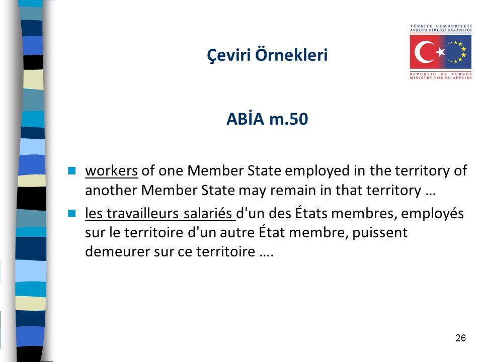 Çeviri Örnekleri ABİA m.50