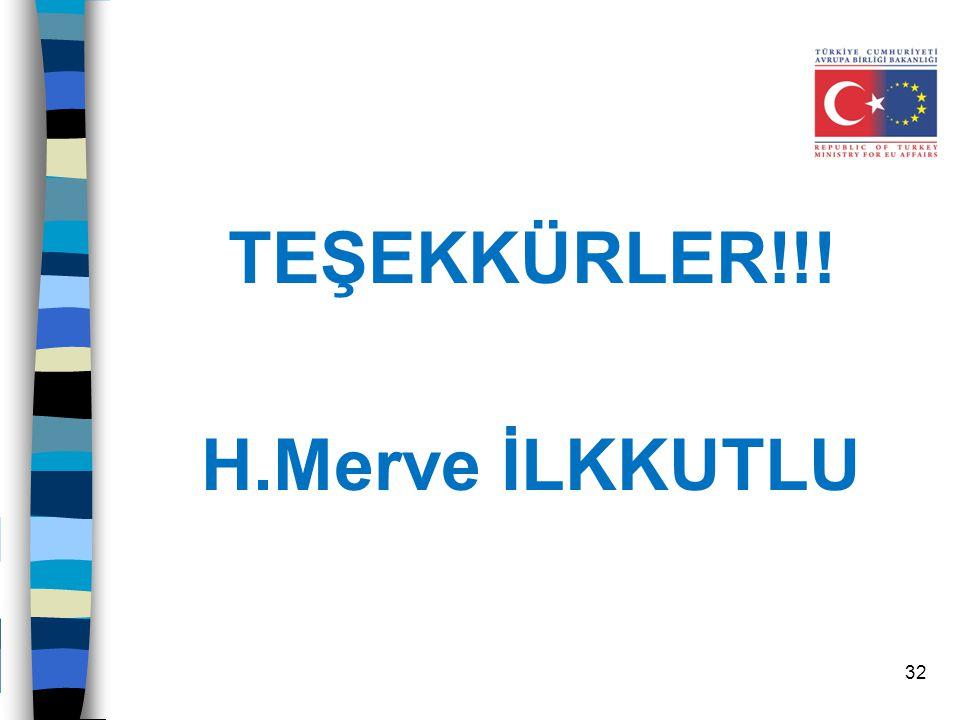 TEŞEKKÜRLER!!! H.Merve İLKKUTLU