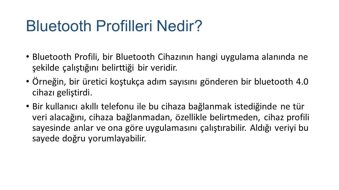 Bluetooth Profilleri Nedir
