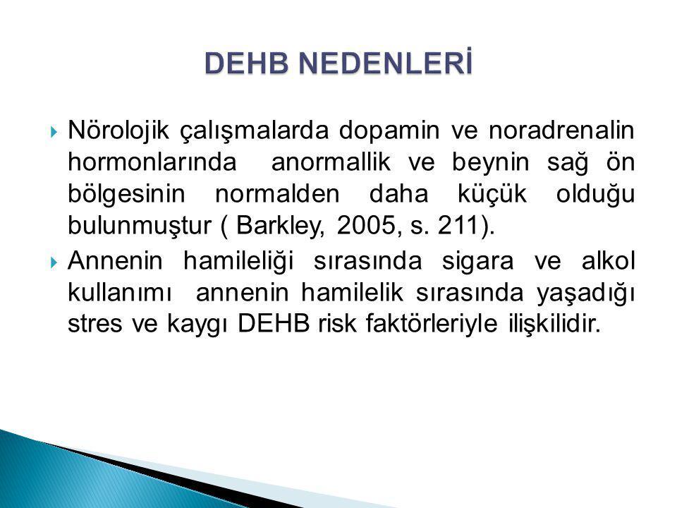 DEHB NEDENLERİ
