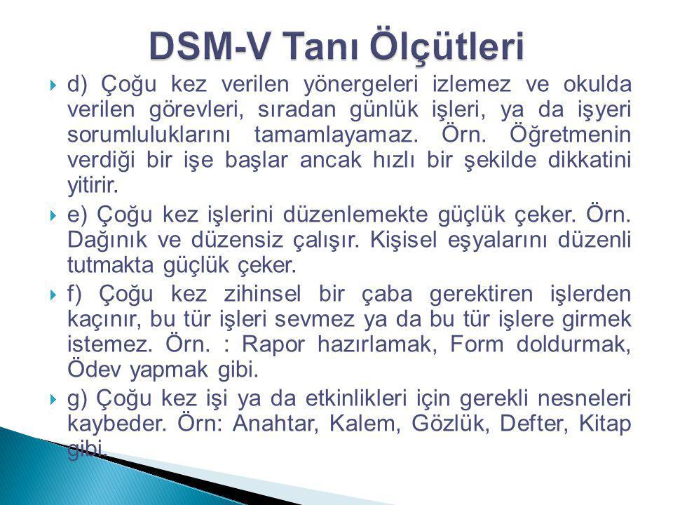 DSM-V Tanı Ölçütleri