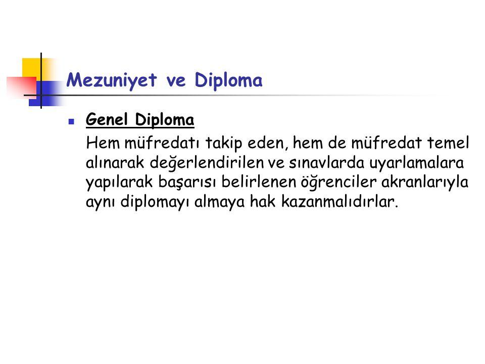 Mezuniyet ve Diploma Genel Diploma