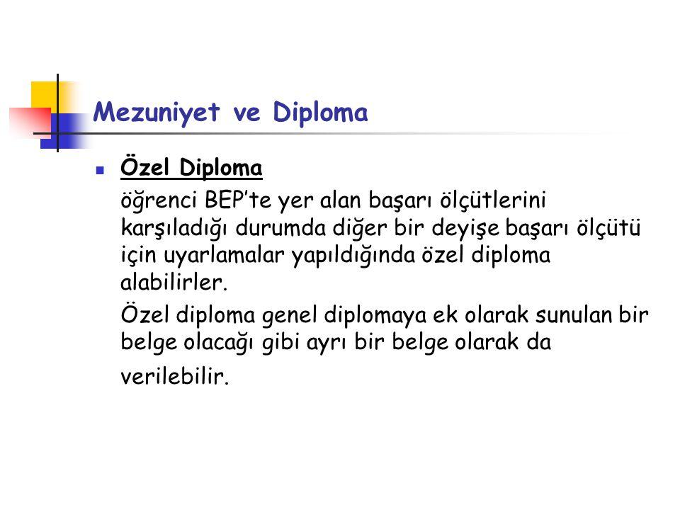 Mezuniyet ve Diploma Özel Diploma