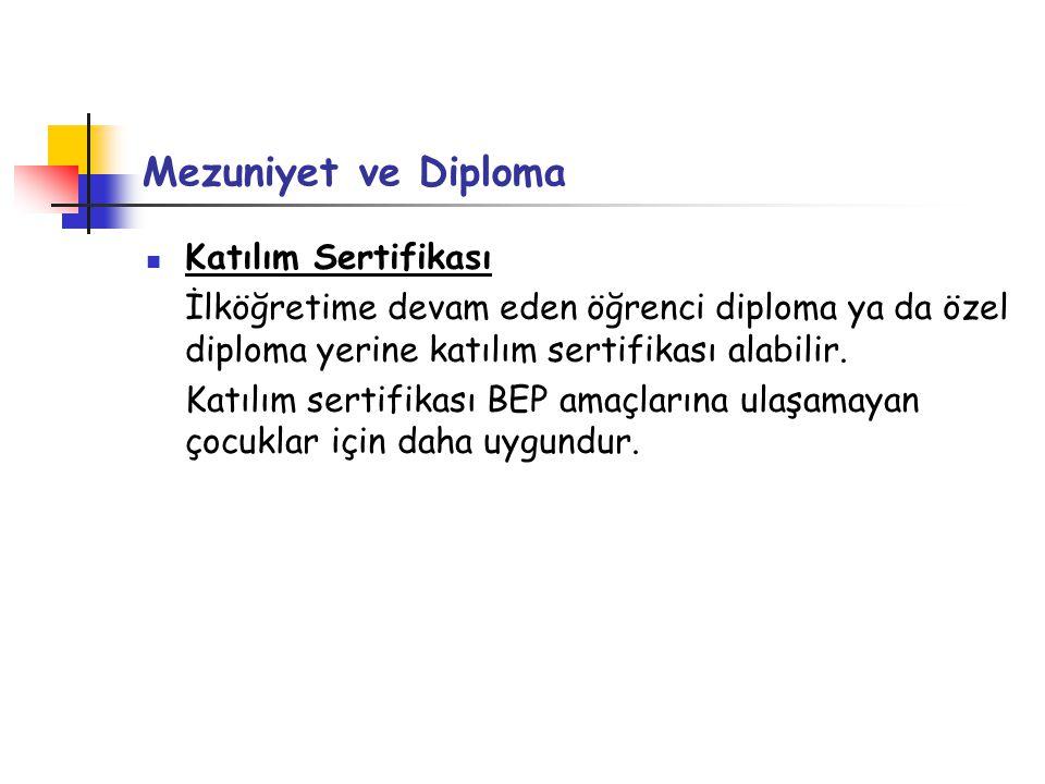 Mezuniyet ve Diploma Katılım Sertifikası