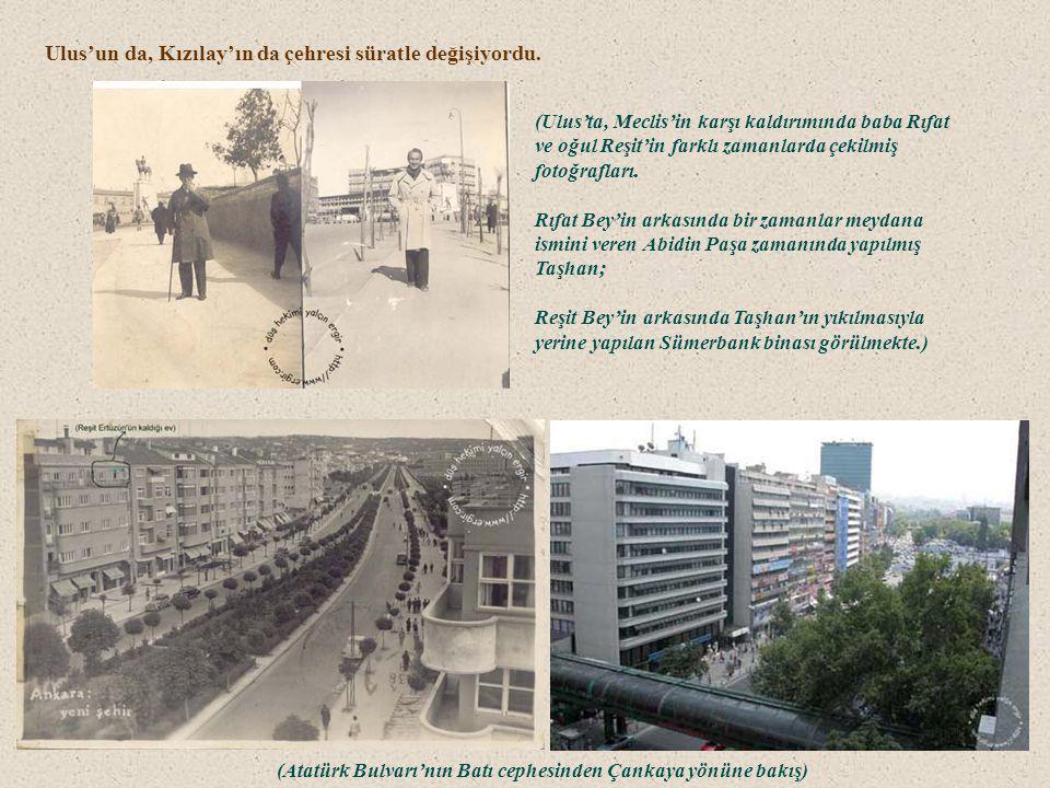 (Atatürk Bulvarı'nın Batı cephesinden Çankaya yönüne bakış)