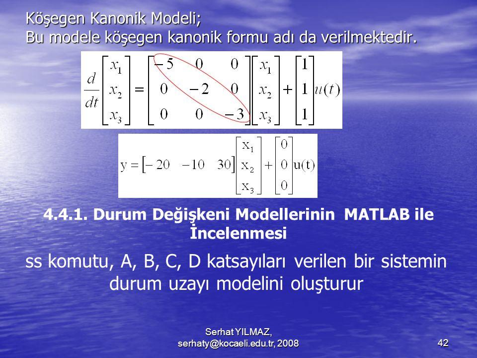 Köşegen Kanonik Modeli; Bu modele köşegen kanonik formu adı da verilmektedir.