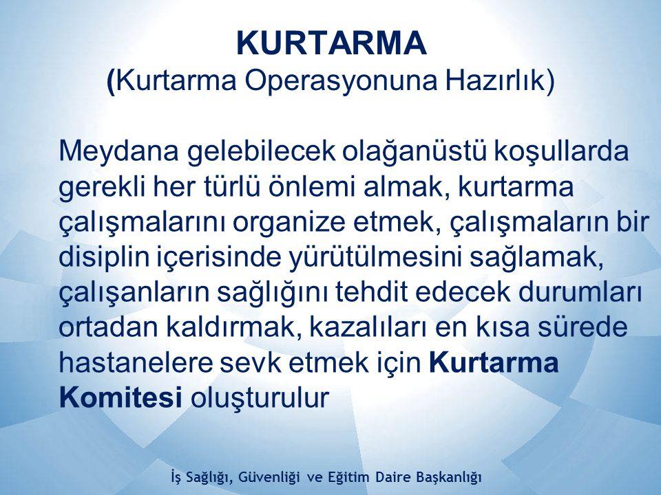 KURTARMA (Kurtarma Operasyonuna Hazırlık)