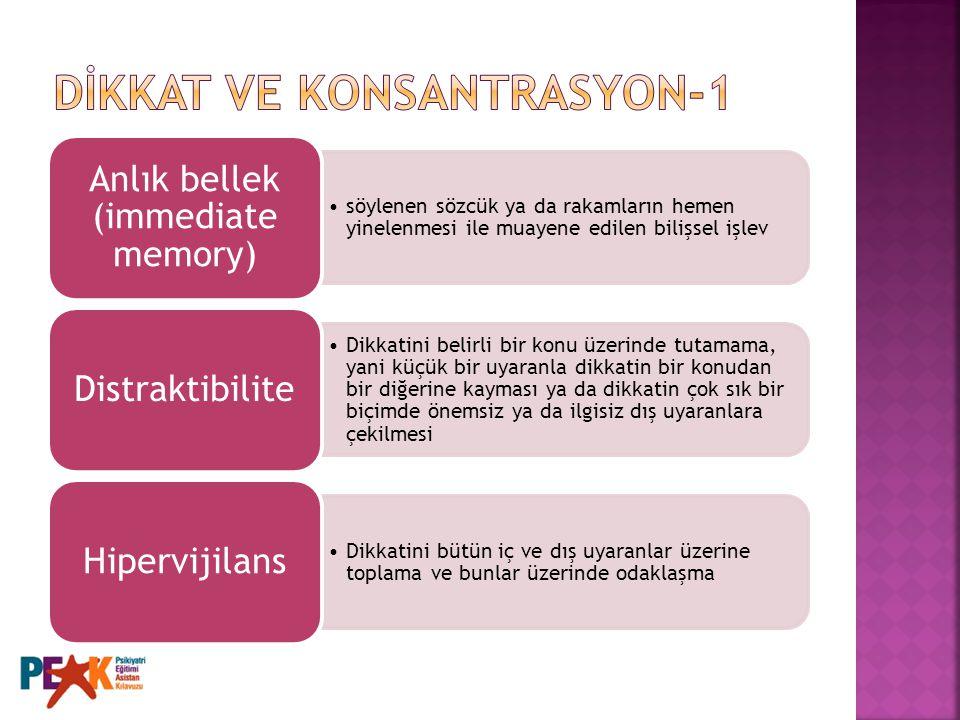 DİKKAT VE KONSANTRASYON-1