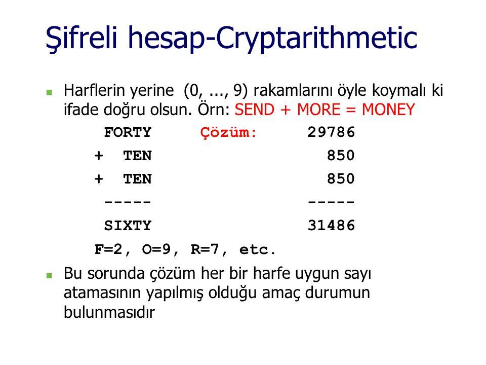 Şifreli hesap-Cryptarithmetic