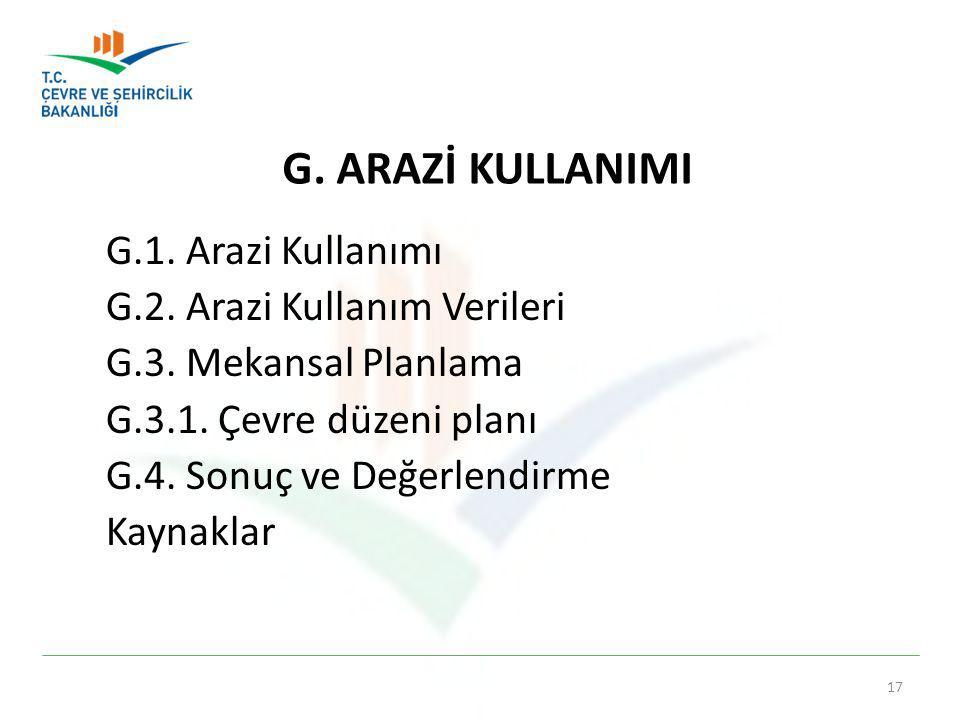 G. ARAZİ KULLANIMI