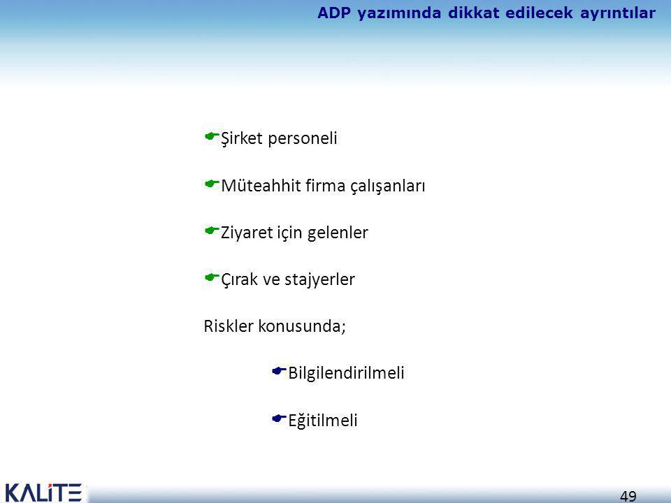 ADP yazımında dikkat edilecek ayrıntılar