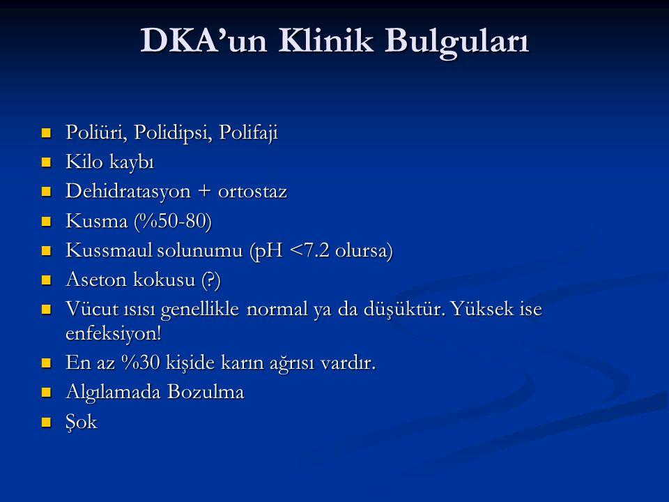 DKA'un Klinik Bulguları