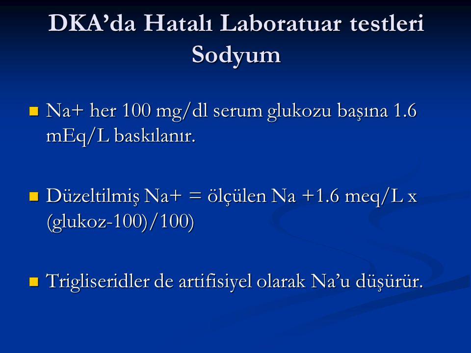 DKA'da Hatalı Laboratuar testleri Sodyum