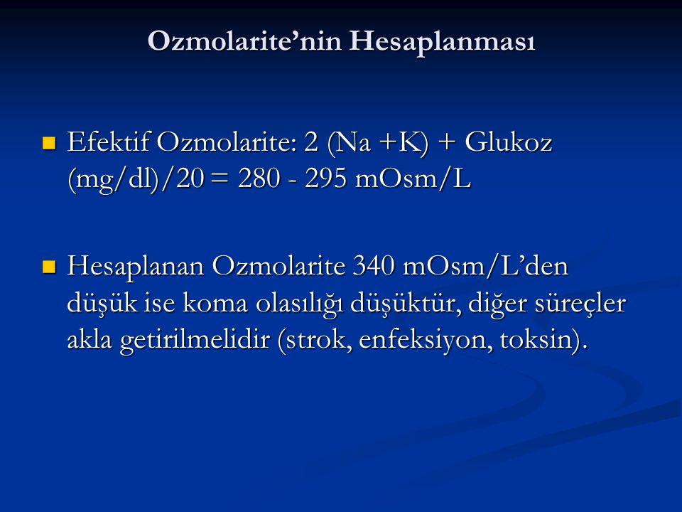 Ozmolarite'nin Hesaplanması