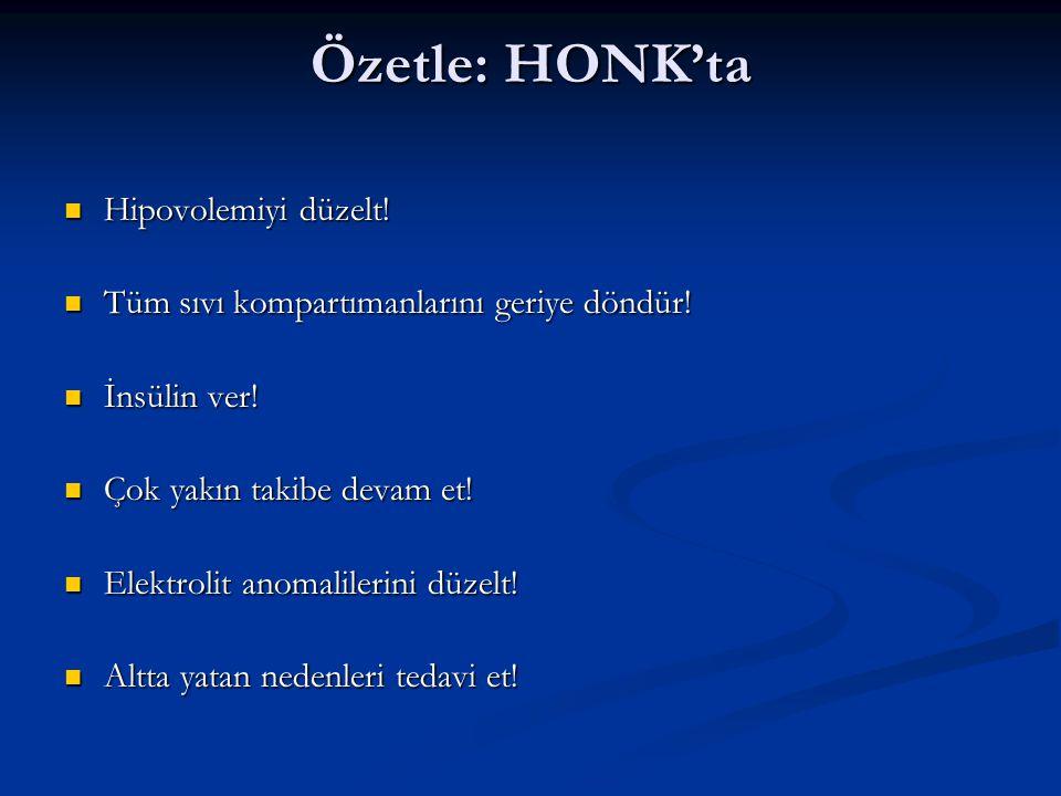 Özetle: HONK'ta Hipovolemiyi düzelt!