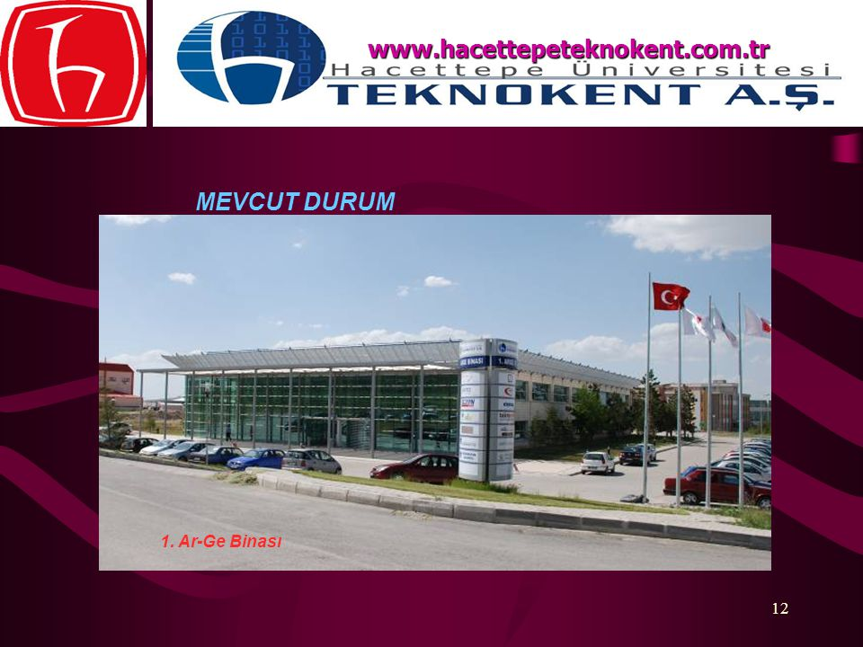 www.hacettepeteknokent.com.tr MEVCUT DURUM 1. Ar-Ge Binası