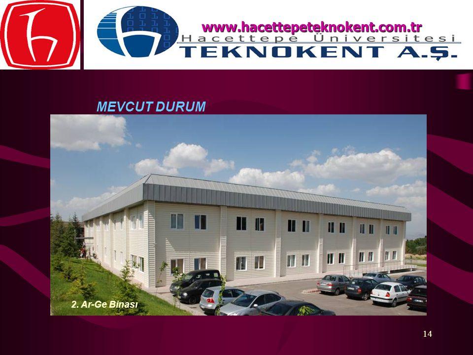 www.hacettepeteknokent.com.tr MEVCUT DURUM 2. Ar-Ge Binası
