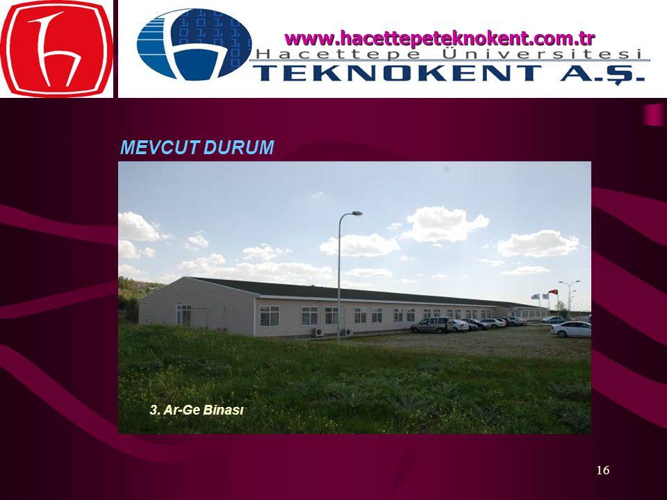 www.hacettepeteknokent.com.tr MEVCUT DURUM 3. Ar-Ge Binası