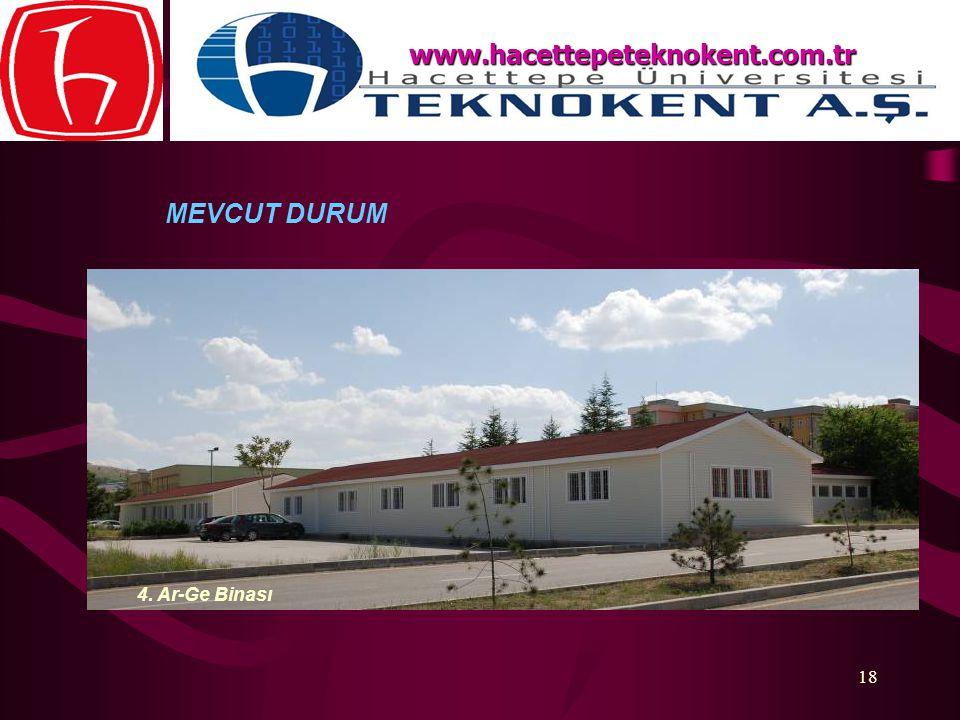 www.hacettepeteknokent.com.tr MEVCUT DURUM 4. Ar-Ge Binası