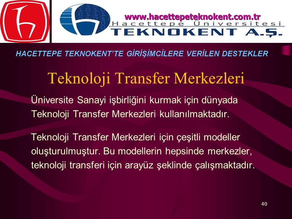 Teknoloji Transfer Merkezleri