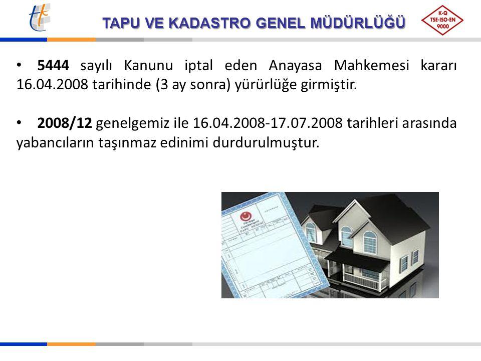 5444 sayılı Kanunu iptal eden Anayasa Mahkemesi kararı 16. 04