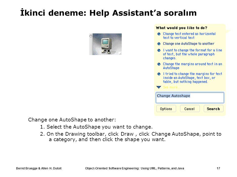 İkinci deneme: Help Assistant'a soralım