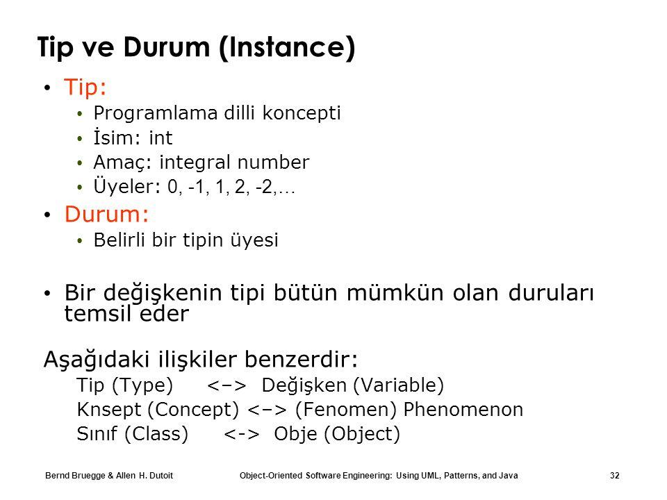 Tip ve Durum (Instance)