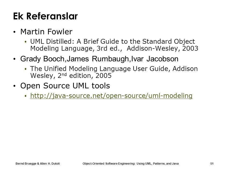 Ek Referanslar Martin Fowler Grady Booch,James Rumbaugh,Ivar Jacobson