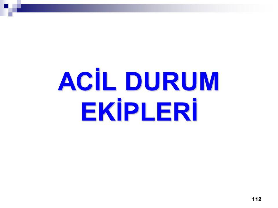 ACİL DURUM EKİPLERİ