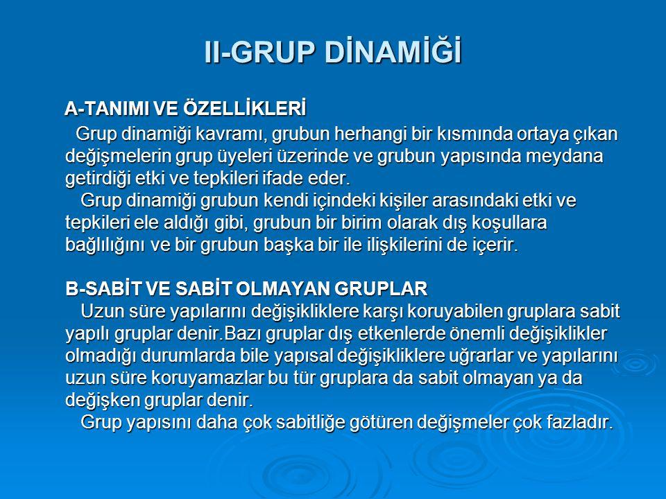 II-GRUP DİNAMİĞİ