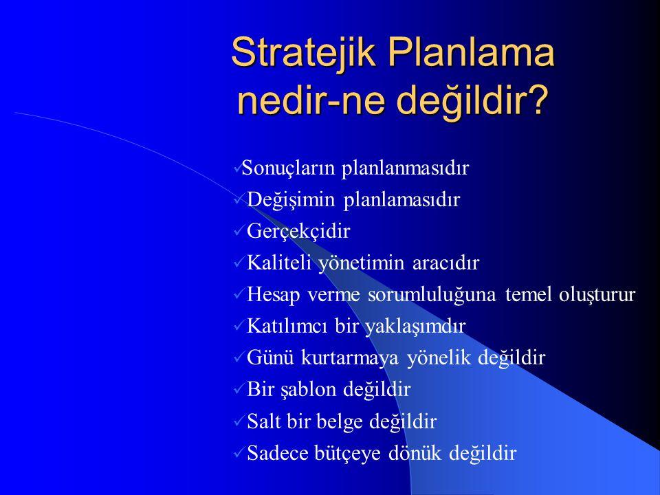 Stratejik Planlama nedir-ne değildir