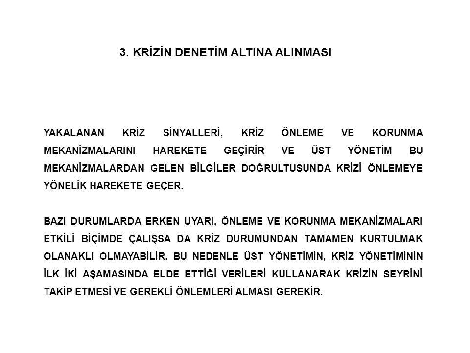 3. KRİZİN DENETİM ALTINA ALINMASI