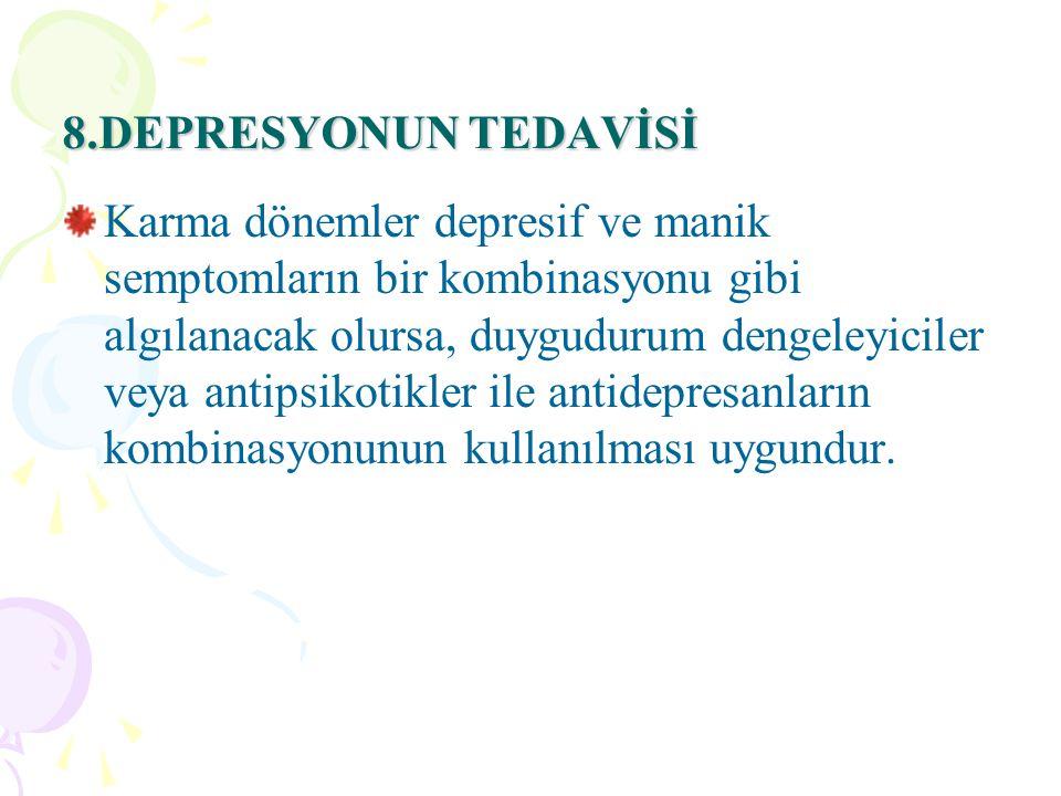 8.DEPRESYONUN TEDAVİSİ