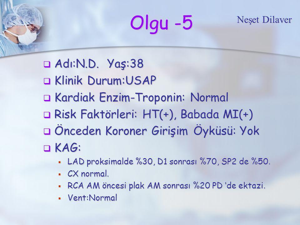 Olgu -5 Adı:N.D. Yaş:38 Klinik Durum:USAP