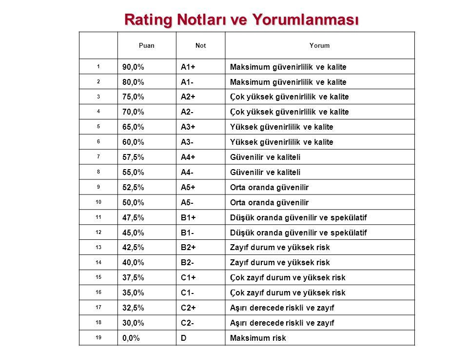Rating Notları ve Yorumlanması