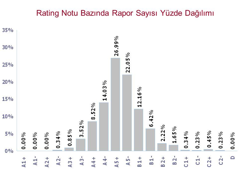 Rating Notu Bazında Rapor Sayısı Yüzde Dağılımı