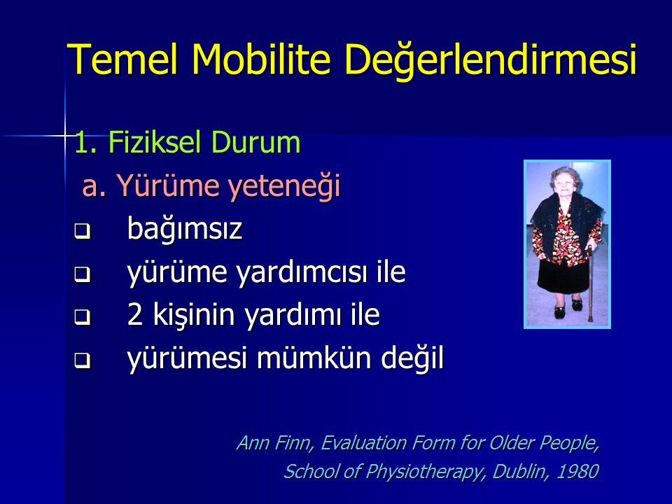 Temel Mobilite Değerlendirmesi