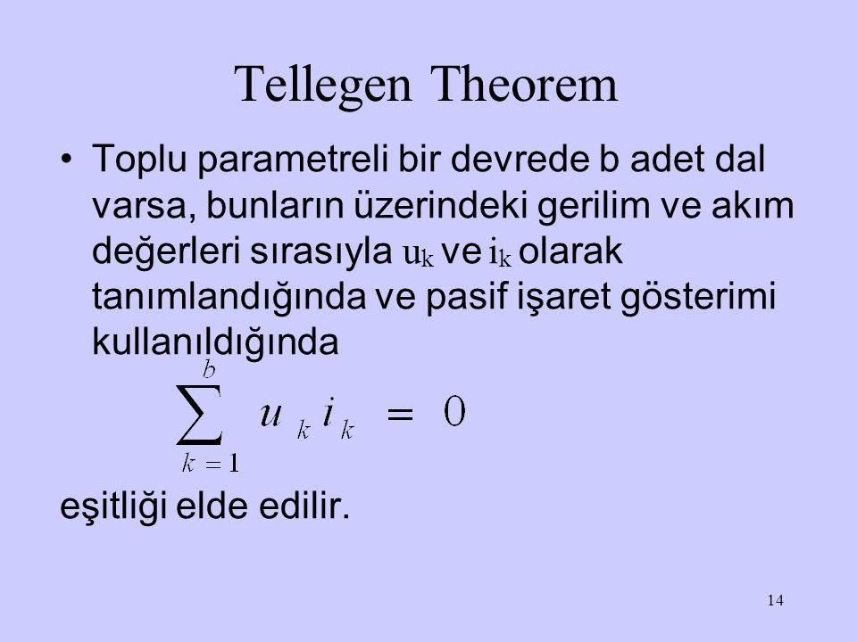 Tellegen Theorem
