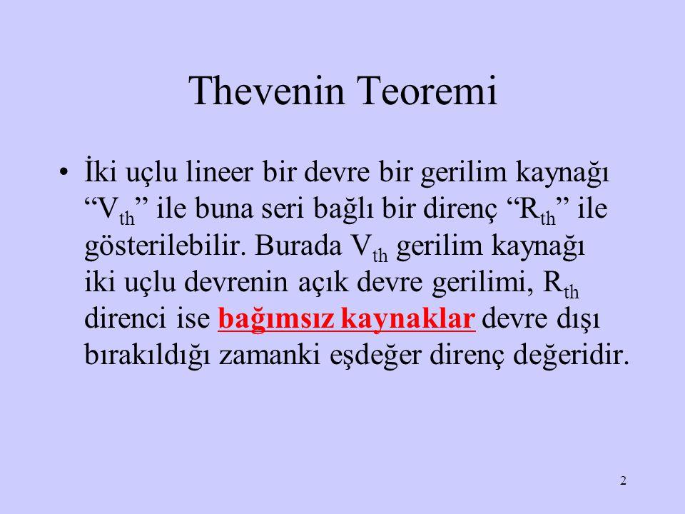 Thevenin Teoremi